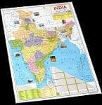インド全土地図 - インドの教育ポスター