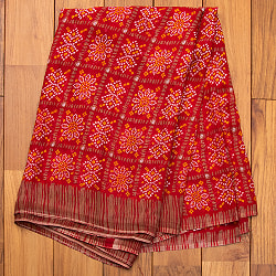 【8色展開】インド伝統模様バンディニプリントのインドサリーの選択用写真
