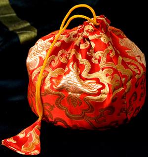 シンギングボウル用携帯巾着 大サイズの個別写真