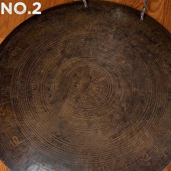 【一点物】ブラスの銅鑼 チベットやネパールの寺院で礼拝用に使用されている〔51cm 3.8Kg〕の選択用写真
