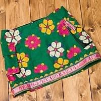 〔1点物〕カッチ地方のトライバル刺繍ミニスカート の個別写真