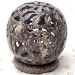 ゾウとつる草 - ソープストーン丸形キャンドル&お香スタンドの個別写真