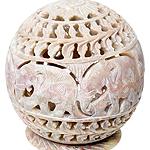 球形 - ソープストーンキャンドル&お香立ての個別写真