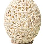 ロータス - ソープストーン卵型キャンドル&お香立ての個別写真