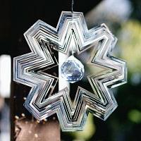 コスモスピナー 太陽で輝き風で動くモビール - 雪の結晶