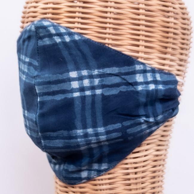 布の宝石!アジュラック&藍染 エスニックマスク シンプルの選択用写真