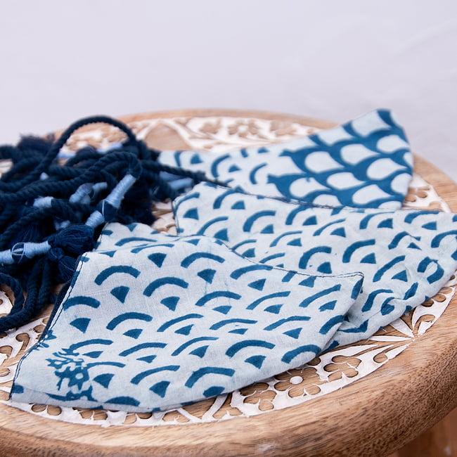 布の宝石!アジュラック&藍染 エスニックマスク フリンジの選択用写真