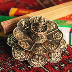 チベット香用蓮型お香立て【約12cm×約9cm】