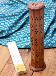 シーシャムウッド タワー型お香立て 【縦31cm】