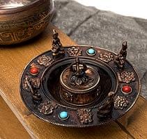 チベット香用アンティークお香立て[直径:約13.5cm]