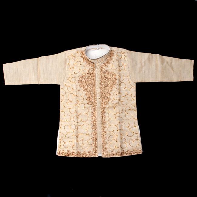 子供用クルタパジャマ 3点セット【刺繍】 2-表面の写真です\