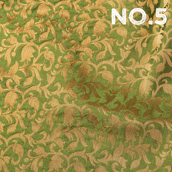 〔1m切り売り〕〔各色あり〕インドの伝統模様布 光沢感のある更紗模様〔幅約108.5cm〕の選択用写真