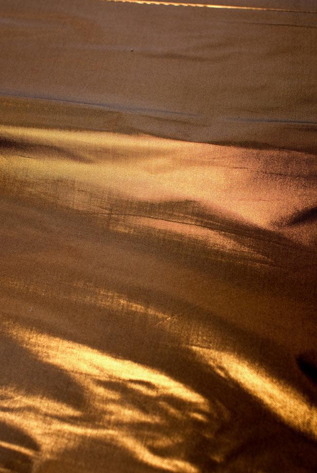 〔1m切り売り〕インドの伝統模様布 - 無地 ブラウン〔幅100cm〕