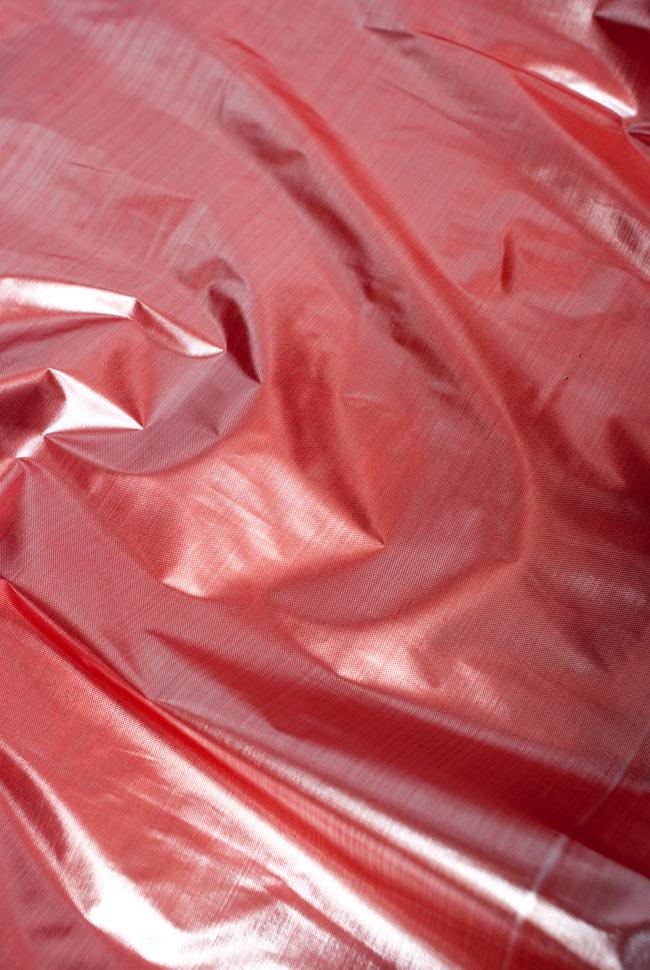 〔1m切り売り〕インドの伝統模様布 - 無地 ピンク〔幅100cm〕の写真