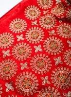 〔50cm切り売り〕刺繍とスパンコールクロス〔幅約110cm〕 - 赤