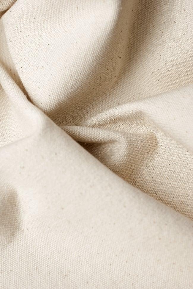 〔1m切り売り〕コットンのナチュラルファブリック(キャンバス地)  オフホワイト〔幅110cm〕2-優しい風合いが魅力。厚手で丈夫なのでバッグも作れます!\