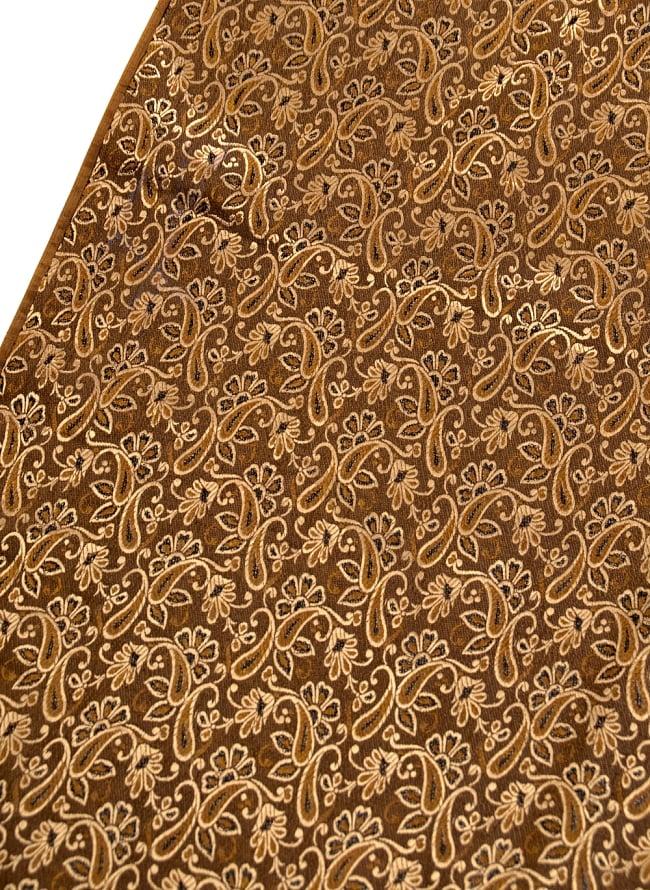 〔1m切り売り〕インドの伝統模様布〔99cm〕 - ブラウンの写真