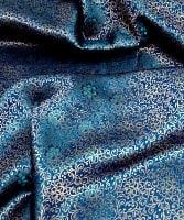 〔1m切り売り〕インドの伝統模様布〔113cm〕 - ブルー