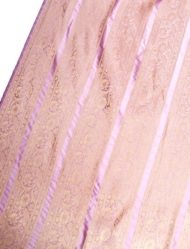 〔1m切り売り〕インドの伝統模様布〔102cm〕 - 薄ピンク系