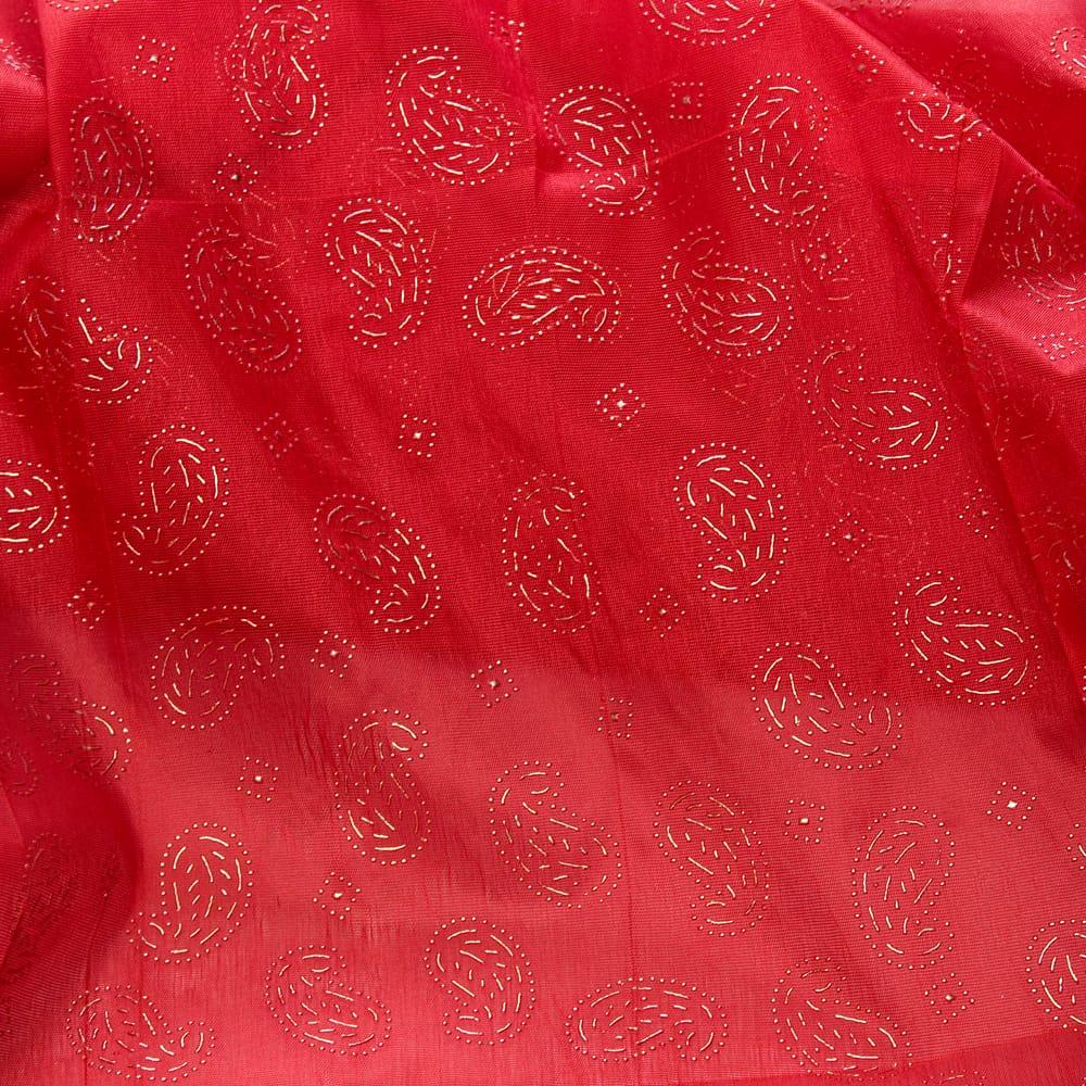 〔1m切り売り〕インドのエンボスペイズリー模様布〔各色あり〕の個別写真