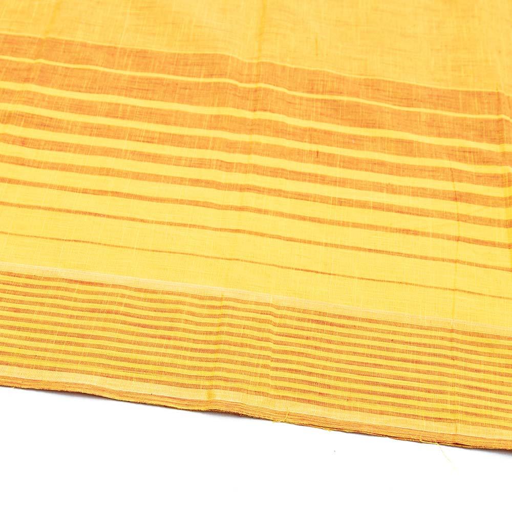 〔1m切り売り〕ハーフボーダーコットンクロス - 幅約108cmの個別写真