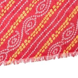 〔1m切り売り〕インドの伝統模様カラフルクロス〔幅約110cm〕の個別写真