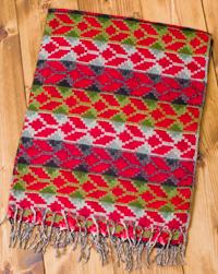 伝統ダッカ織りデザインのストールの個別写真