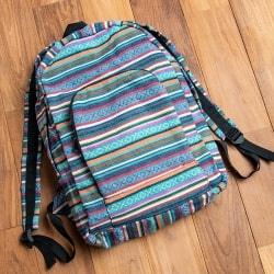 ネパールゲリのバックパック - 青系