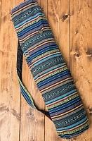 [ジッパータイプ]ネパール織り布のヨガマットバッグ