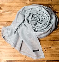 パシュミナ100% 大判手織りストール - シュネーの個別写真