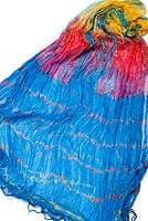 インドの薄ショール クリンクル タイダイドゥパッタ - スカイブルーの個別写真