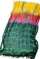 インドの薄ショール クリンクル タイダイドゥパッタ - 緑の個別写真
