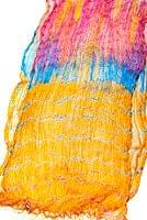 インドの薄ショール クリンクル タイダイドゥパッタ - やまぶきの個別写真