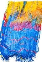 インドの薄ショール クリンクル タイダイドゥパッタ - ブルーの個別写真