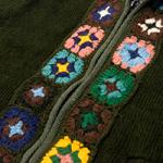 フラワーモチーフのウールジャケットの個別写真