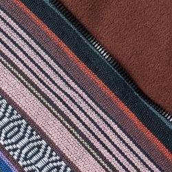 ネパール伝統布のインナーフリースジャケットの個別写真