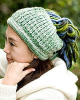 フェルトのポンポン ニット帽 - グリーンの個別写真