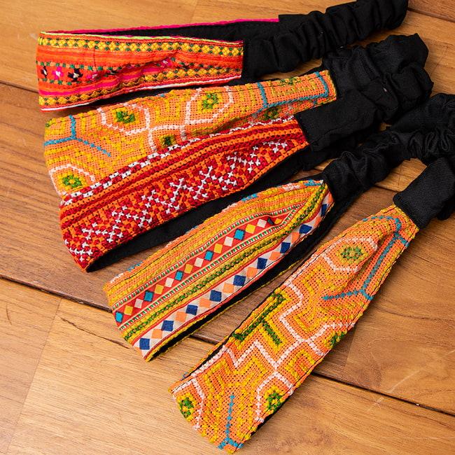 モン族の手作りカラフル刺繍ヘアバンド【1点アソート】の選択用写真