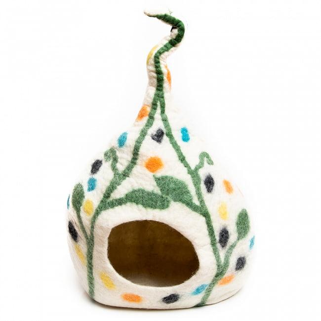 ネパールフェルトのしっぽ付きキャットハウス 猫ハウスの選択用写真