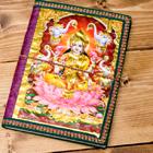 〈19.5cm×14.5cm〉インドの神様柄紙メモ帳 - カラフル 神様の個別写真