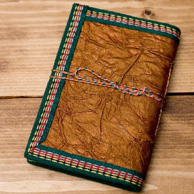 〈12.8cm×8.5cm〉インドの神様柄紙メモ帳 - ブッダ2-裏面の写真です\