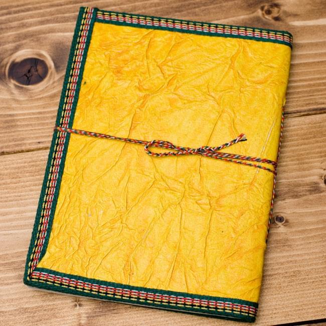 〈19.5cm×14.5cm〉インドの神様柄紙メモ帳 - カラフル 神様の写真2-裏面の写真です\