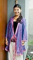 オールドサリーロングカシュクール 紫・青系の個別写真