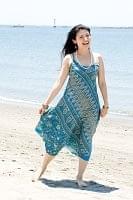 オールドサリーAラインサマードレス 【青系】の個別写真
