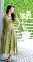 オールドサリーAラインサマードレス 【緑系】の個別写真