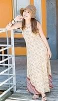 オールドサリーAラインサマードレス 【白・ベージュ系】の個別写真