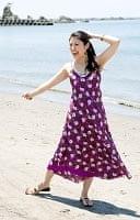 オールドサリーAラインサマードレス 【紫系】の個別写真