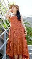 オールドサリーAラインサマードレス 【オレンジ系】の個別写真