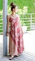 オールドサリーAラインサマードレス 【赤系】の個別写真