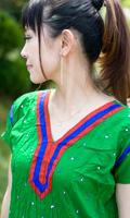 シンプルドットのインドのクルティの個別写真